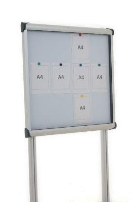 Metro external magnetic notice board