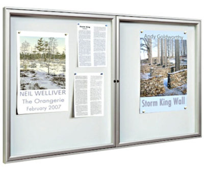 internal magnetic notice board with aluminium frame