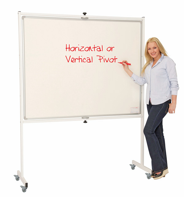 Mobile Pivoting Whiteboard Vertical Pivoting Or