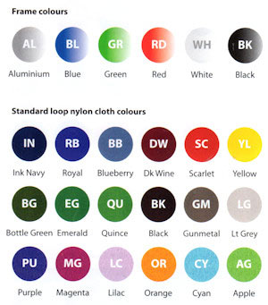 Nyloop fabric colours
