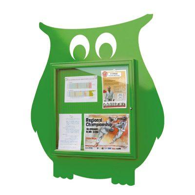 owl shaped external notice board