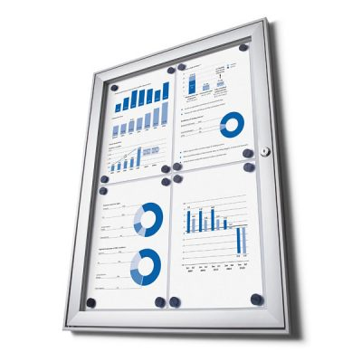 Magnetic external notice board