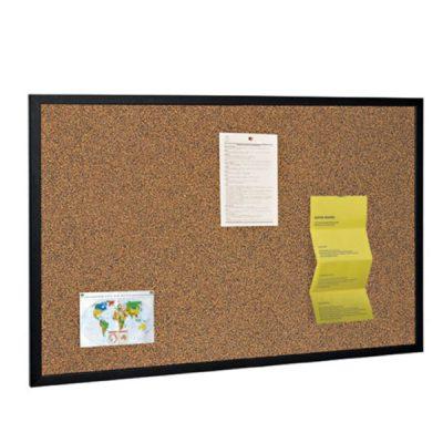 black frame cork board
