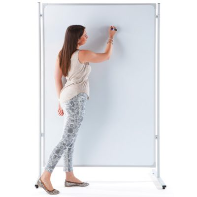 mobile whiteboard partition