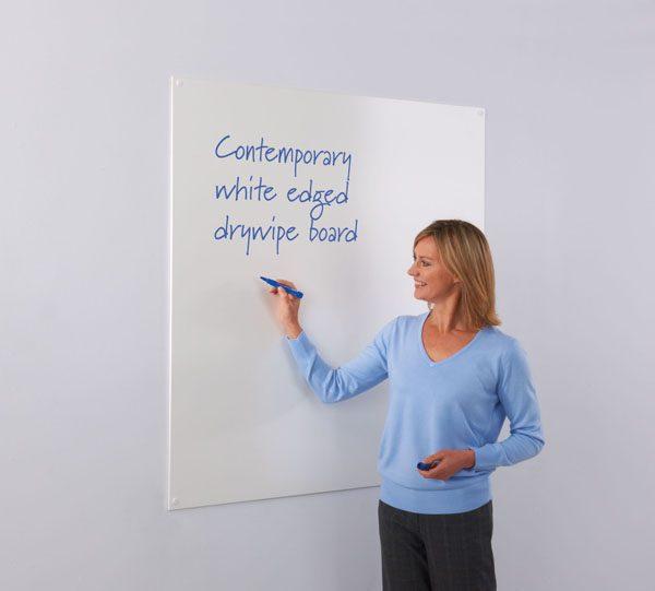 Frameless Whiteboards white edge