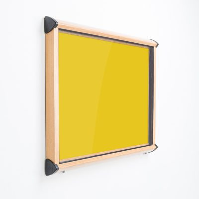Sheild wood effect frame external notice board