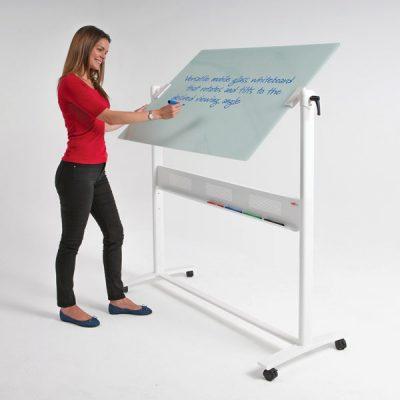 Mobile revolving glass Whiteboard