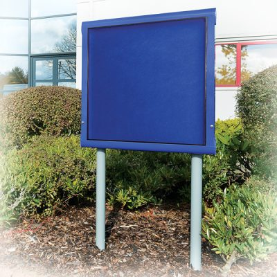 outdoor post mounted notice board